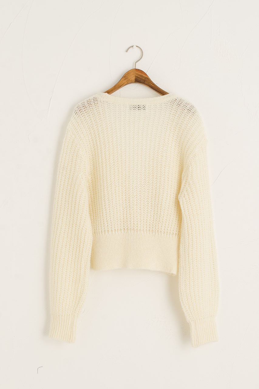 Double Buttoned Cardigan, Ivory