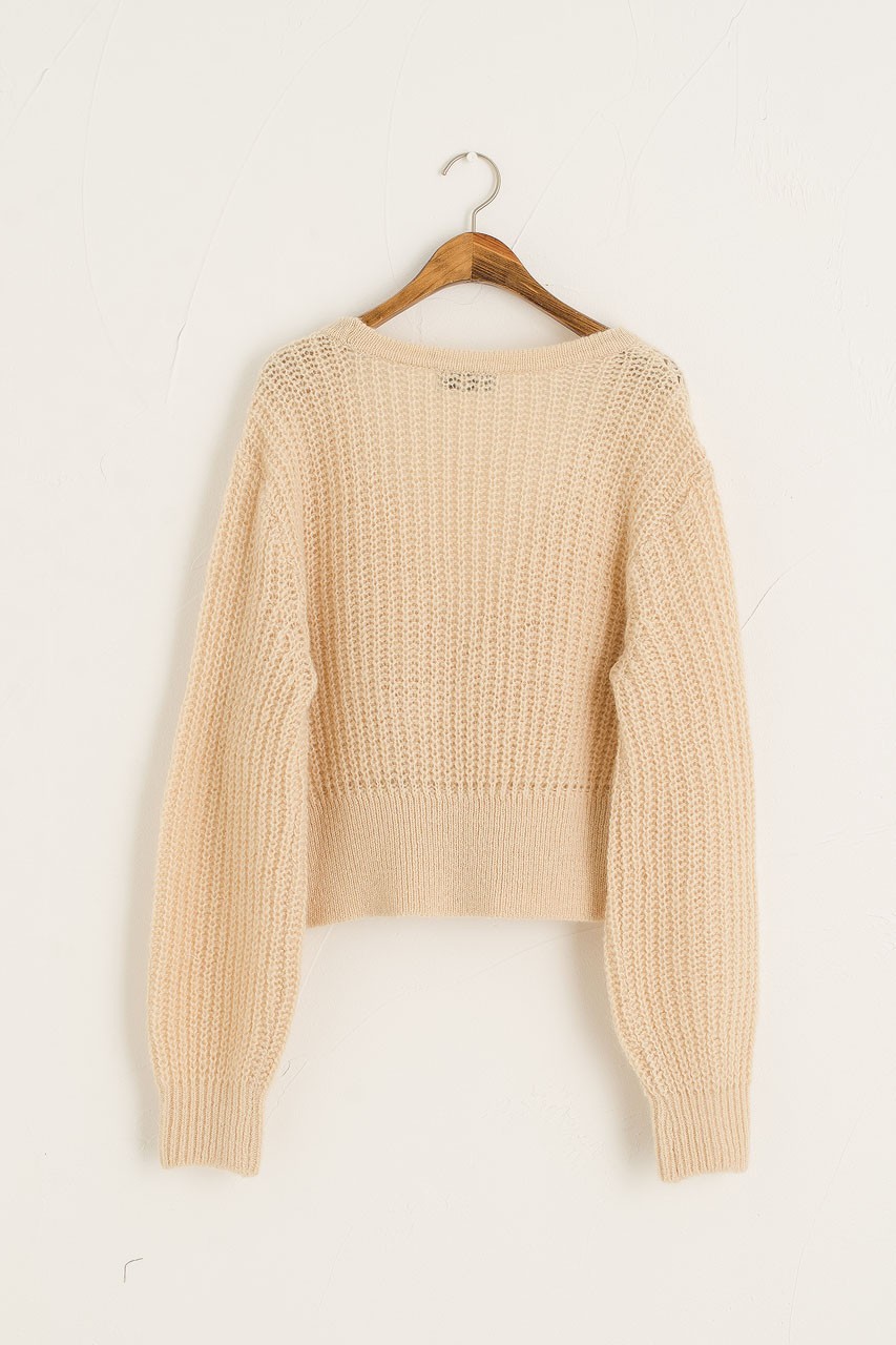 Double Buttoned Cardigan, Beige