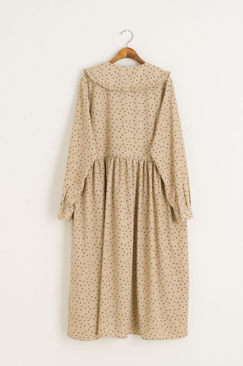 Olea Printed Dress, Beige