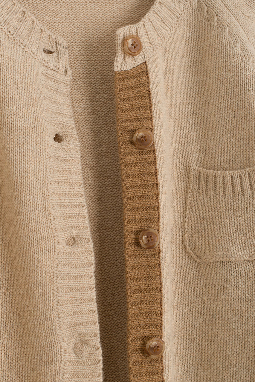 Patch Pocket Cardigan, Oat