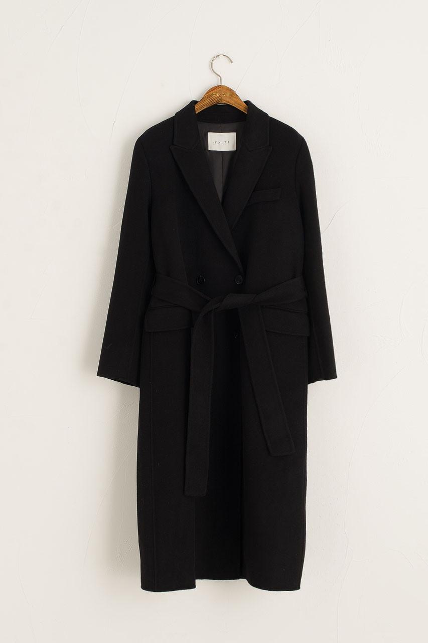 Moya Robe Coat, Black