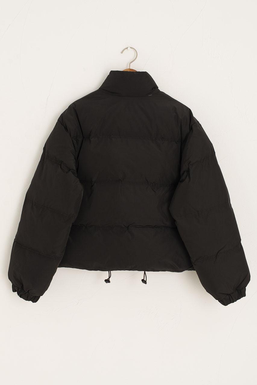 Cropped Padded Jacket, Black