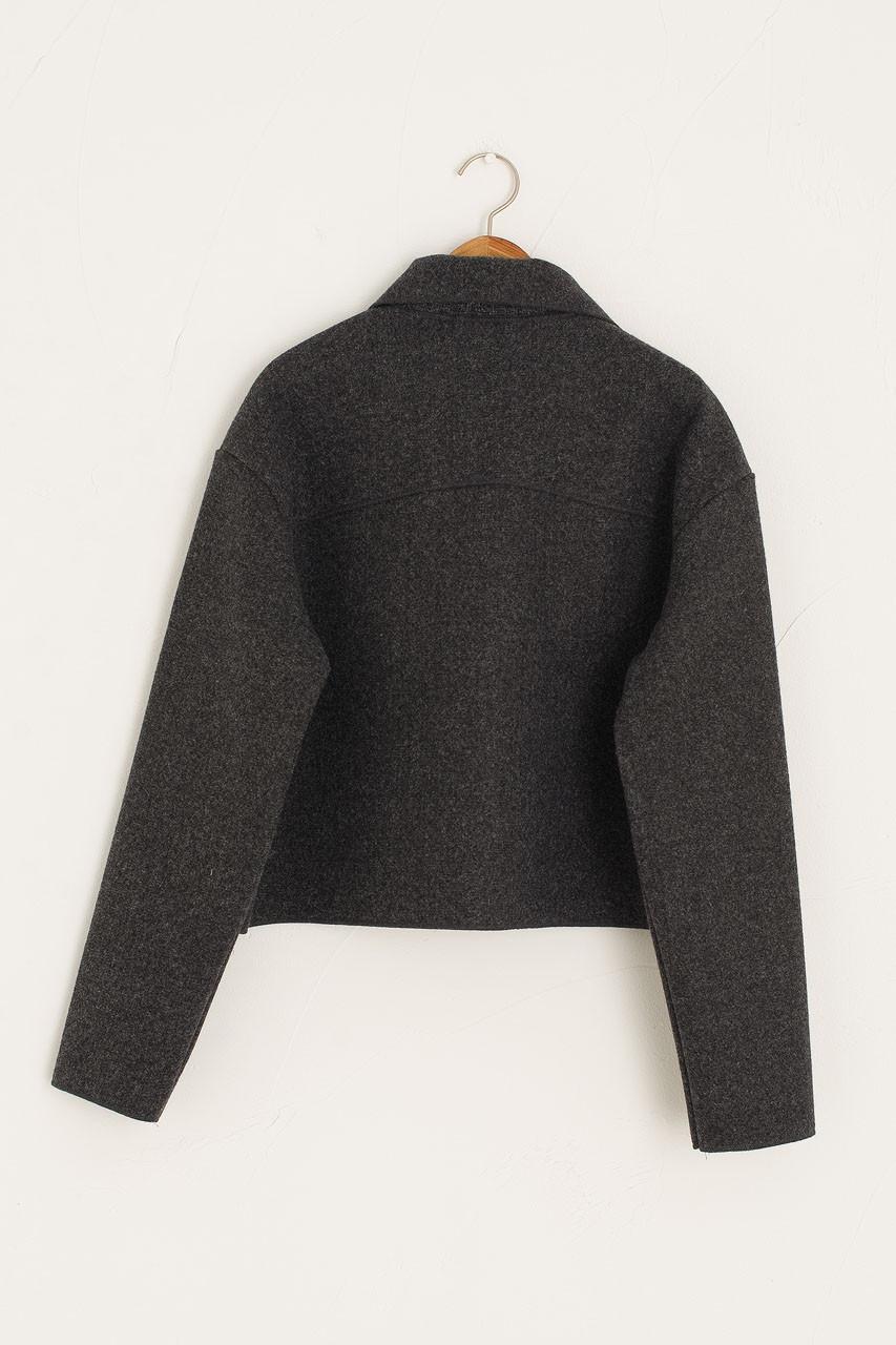 Mas Cropped Jacket, Charcoal