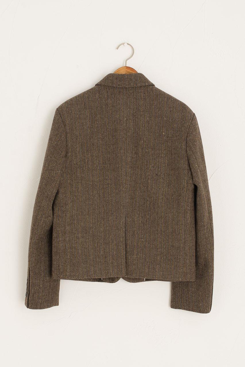 Wool Herringbone Jacket, Brown