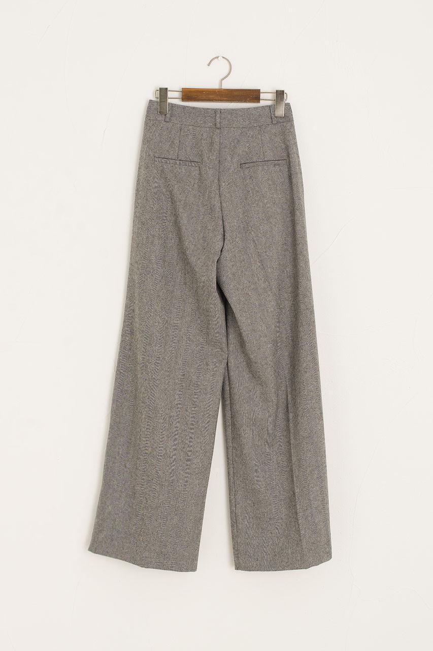 Herringbone Loose Trouser, Grey
