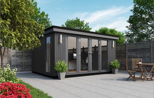 contemporary panoramic garden room, garden rooms, garden offices, garden buildings, garden studio, garden rooms north wales, garden rooms cheshire