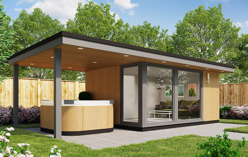 Garden Room with Side Canopy for Hot Tub