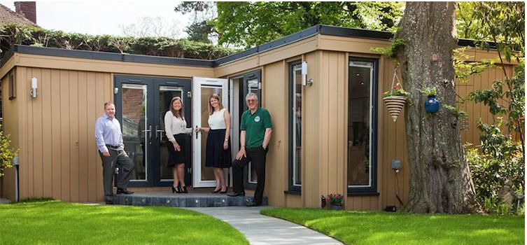 garden rooms, garden offices, environmentally friendly garden rooms, wood composite garden rooms
