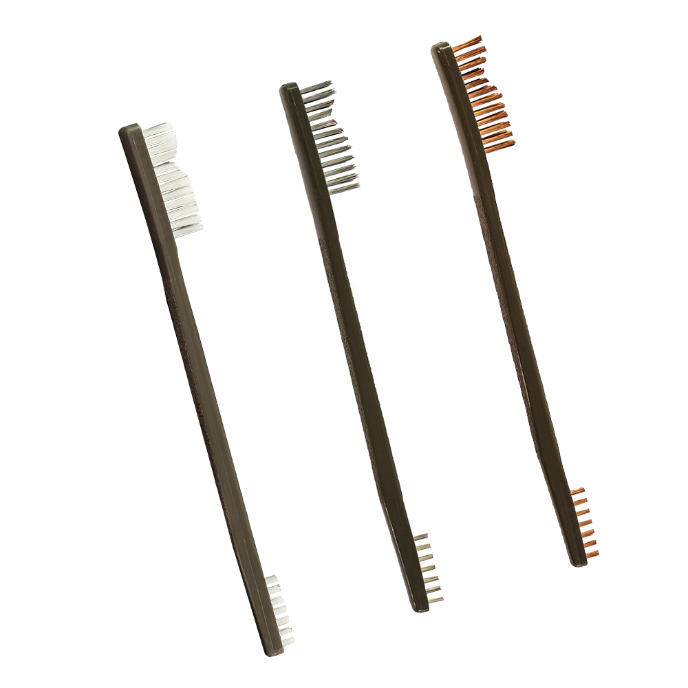 3 Pack AP Brushes (Nylon/Bronze/ Stainless Steel)