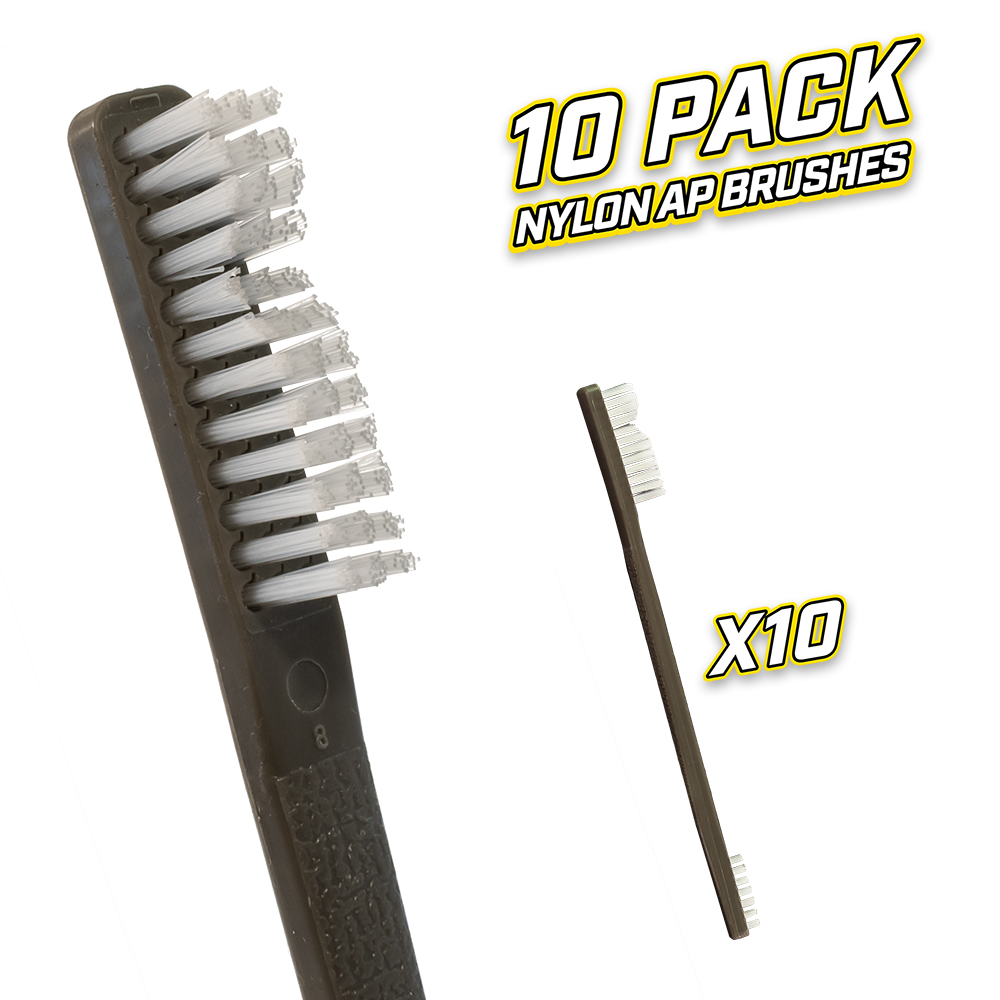 10 Pack Nylon AP Brushes