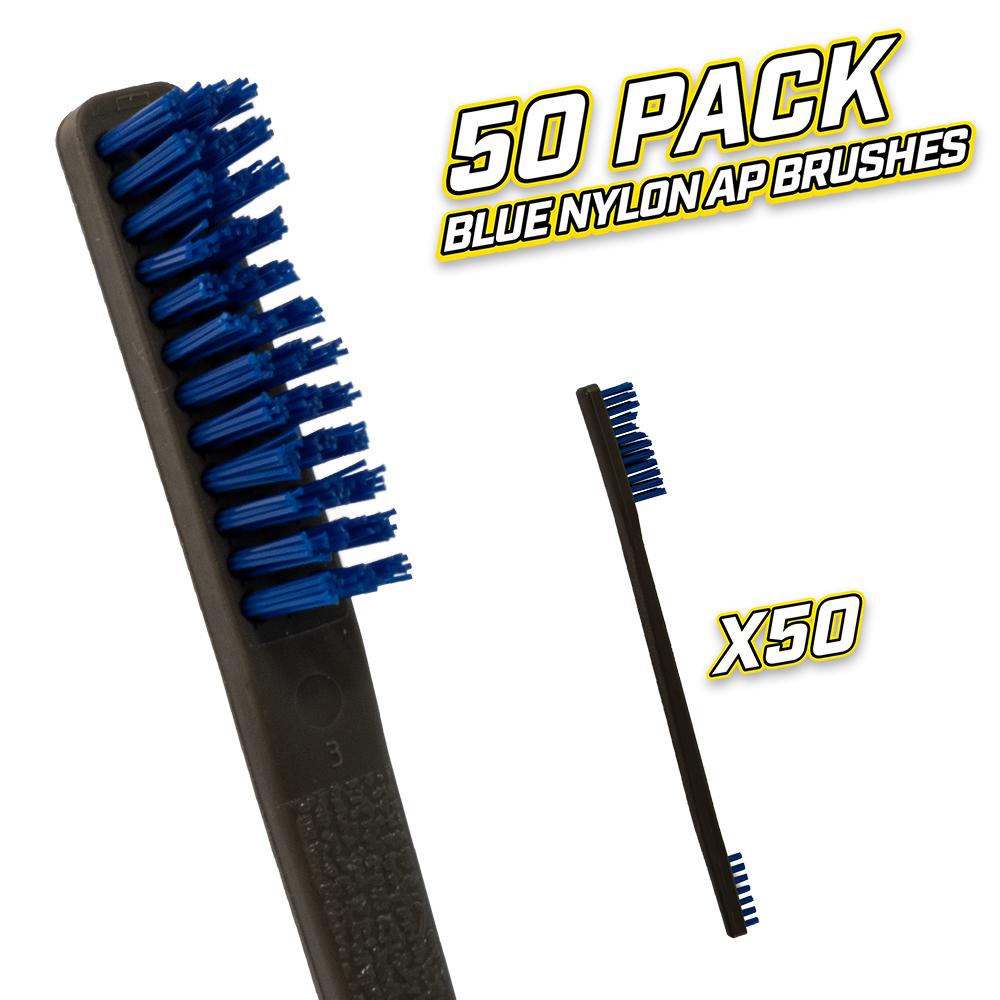 50 Pack Blue Nylon AP Brushes