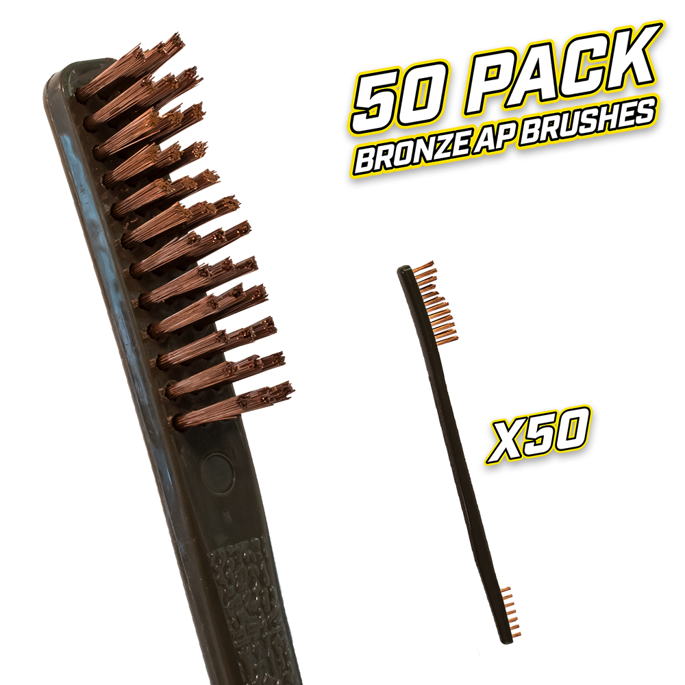 50 Pack Bronze AP Brushes