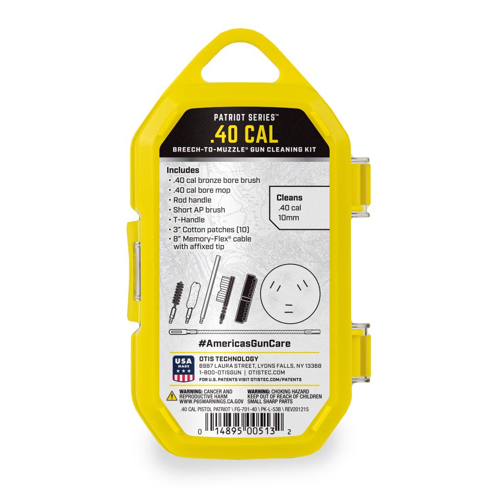 .40 cal Patriot Series® Pistol Cleaning Kit