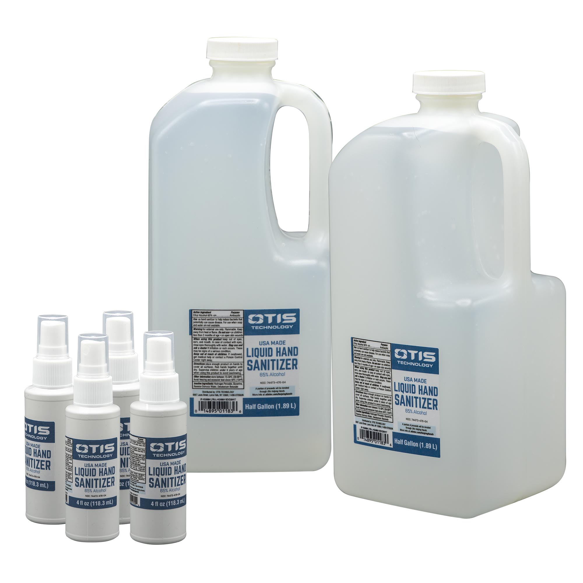 1 Gallon Liquid Hand Sanitizer and Refill Spray Bottles