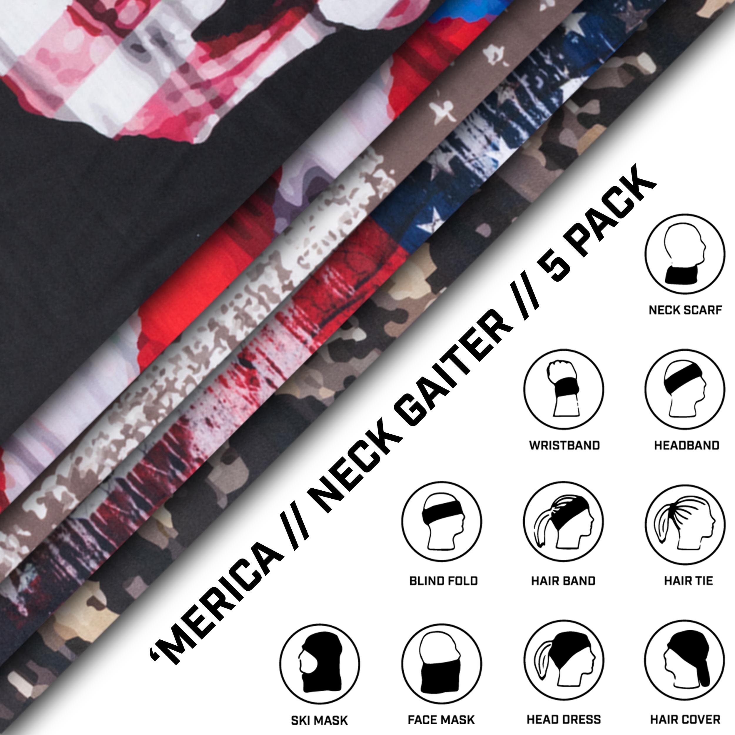 Neck Gaiter 5 Pack - 'Merica