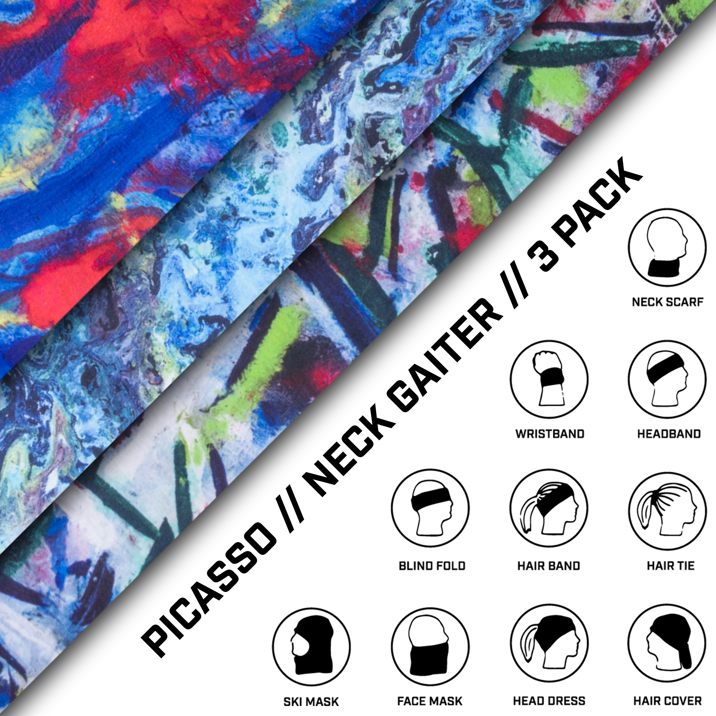 Neck Gaiter 3 Pack - Picasso