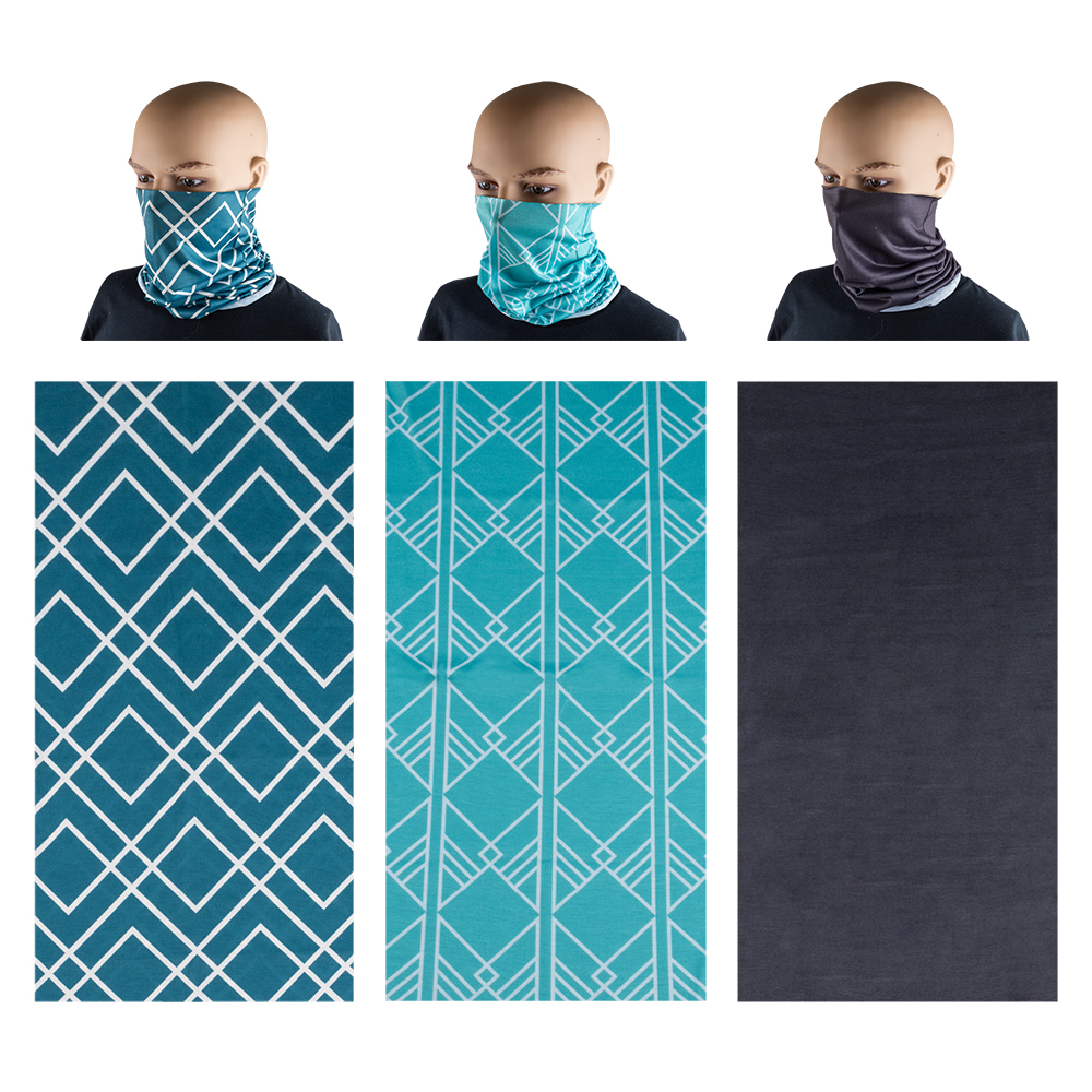 Neck Gaiter 3 Pack - Teal & Steel