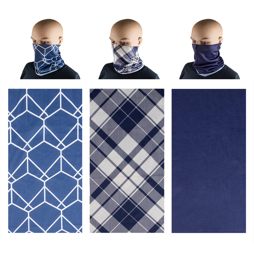 Neck Gaiter 3 Pack - Shades of Blue