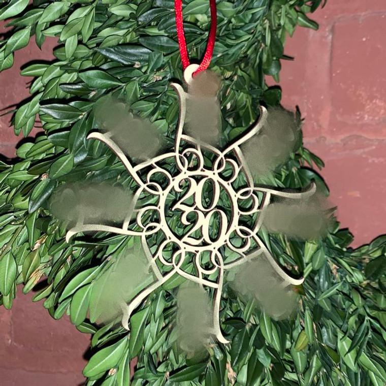 F Snowflake Cutout Ornament