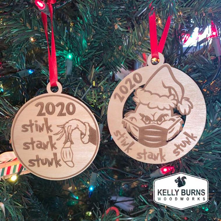 Grinch 2020 Stink Stank Stunk Ornament