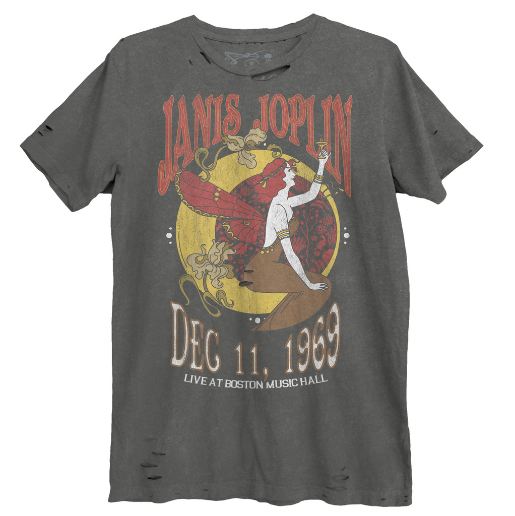 Janis Joplin Nouveau Boston Music Hall Destroyed Unisex Tee