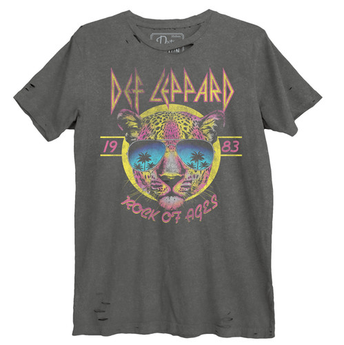Def Leppard Sunglasses Leppard Destroyed Unisex Tee