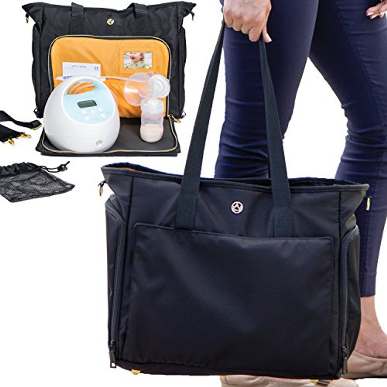 Zohzo Lauren Breast Pump Bag Portable Tote Bag Great For Travel