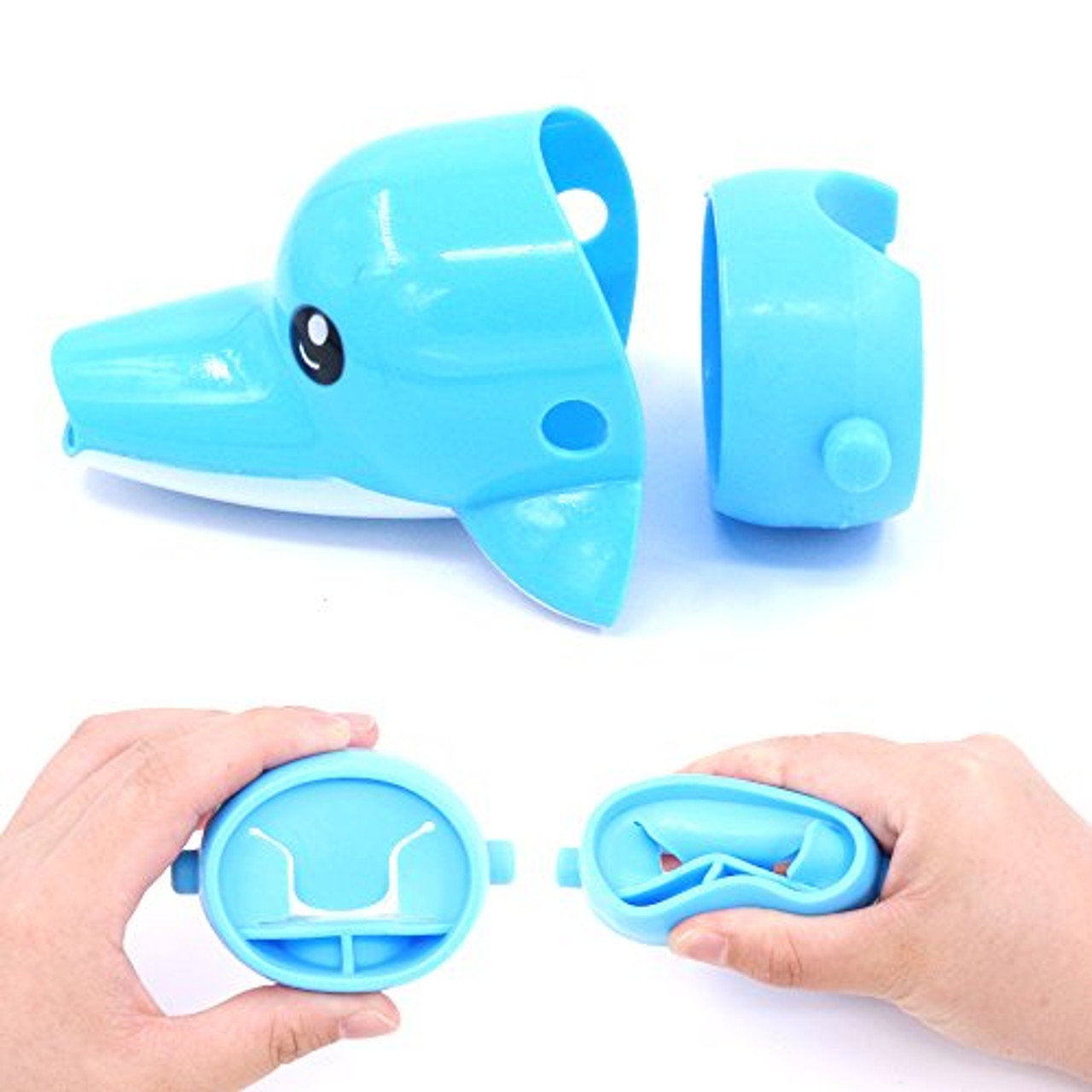 and Rustark 3Pcs Cartoon Faucet Extender Sink Handle Extender for Toddler Baby