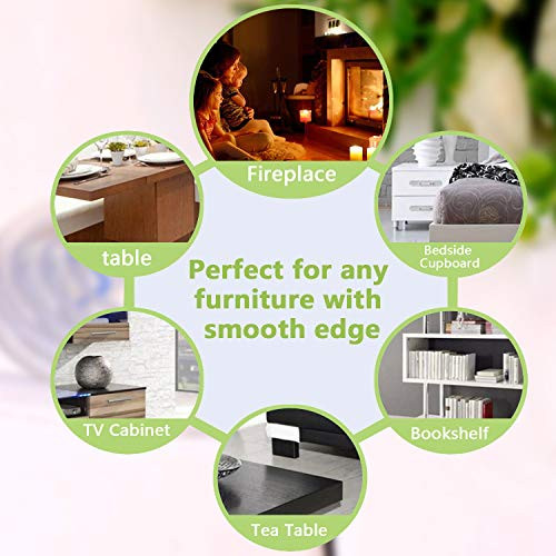 Tables Transparent Table Edge Furniture Guard Corner Protectors Bumper Strip with Double-Sided Mounting Tape for Cabinets Clear Drawers