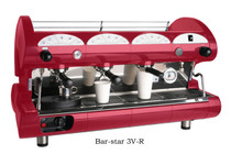La Pavoni Bar-star Commercial Espresso Machine - 2,3 or 4 Group, Volumetric, Black or Red