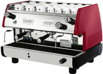 La Pavoni BAR-T V Commercial Espresso Machine - 2 or 3 Group, Red or Black