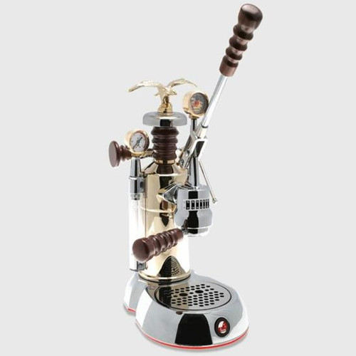 La Pavoni Esperto, Competente Espresso Machine, Chrome / Brass OR Chrome