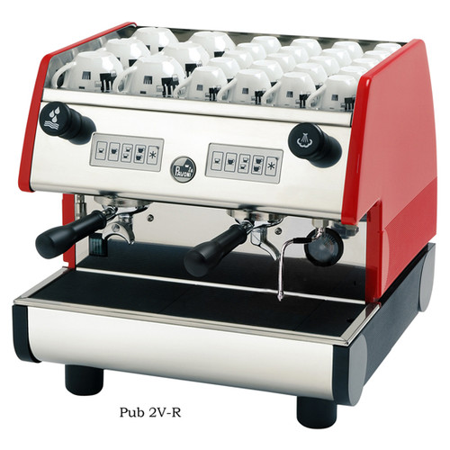 La Pavoni PUB 1V / 2V Commercial Espresso Machine - Volumetric, Red or Black