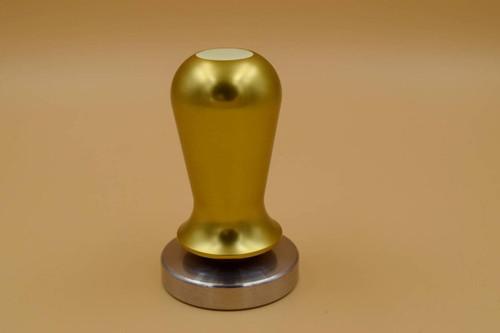 Caffe Arts™ 30 lb Calibrated Tamper - Gold, 58mm
