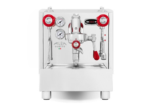 Izzo Alex Duetto 4 (IV) Plus Espresso Machine - Red Accents
