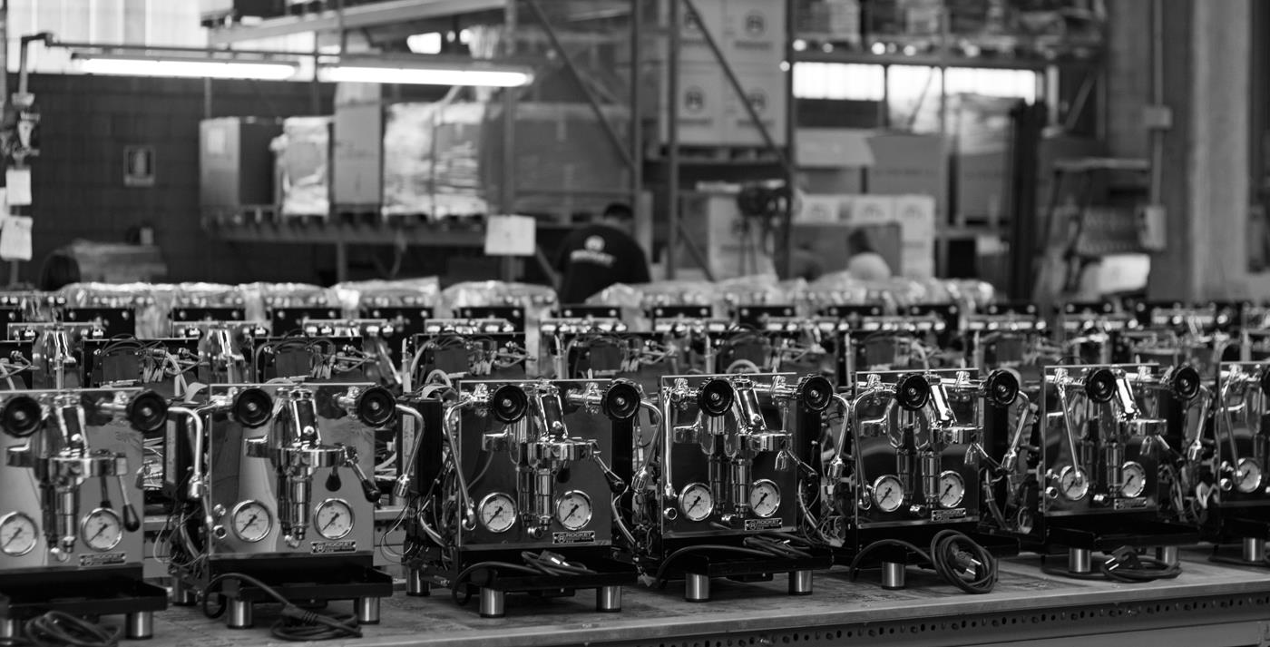 Rocket Espresso Milano manufacturing facility