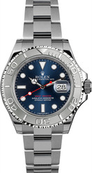 Rolex Yacht-Master Steel 16622 Pre-Owned Custom Blue Dial
