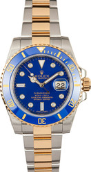 Rolex Pre-Owned Ceramic Submariner Custom Blue Diamond Dial 116613LN