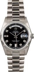 Rolex White Gold President 36mm Custom Bezel and Dial on President Bracelet P18239BD