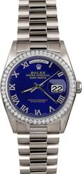 Rolex White Gold President 36mm Custom Bezel and Dial on President Bracelet P18239LRD