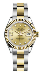 Rolex Lady Datejust 28mm Fluted Two-Tone 279173 CRDFO