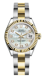 Rolex Lady Datejust 28mm Fluted Two-Tone 279173 MOPDFO