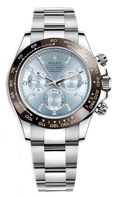 Rolex Platinum Daytona 116506 Diamond Baguette
