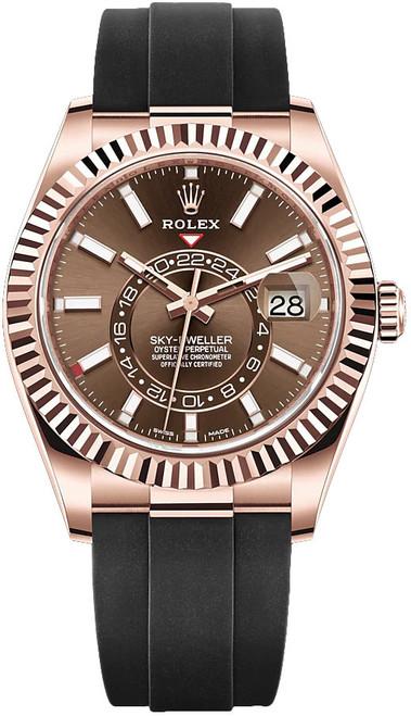 Rolex Rose Gold Sky Dweller 326235 Chocolate
