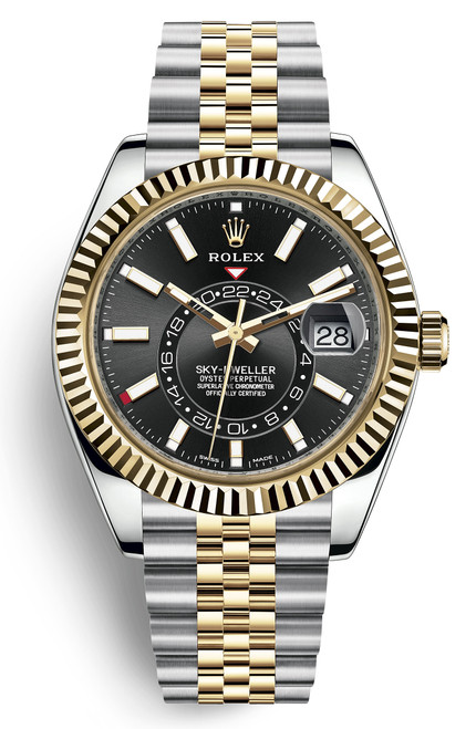 Rolex Stainless Steel and Yellow Gold Sky Dweller 326933BJ