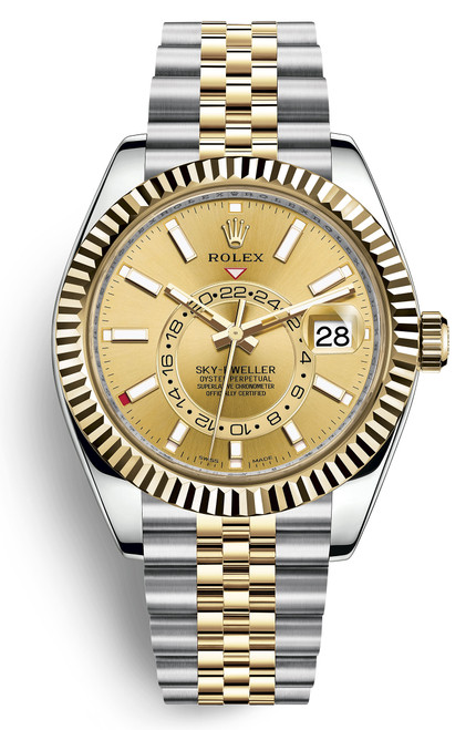 Rolex Stainless Steel and Yellow Gold Sky Dweller 326933CJ