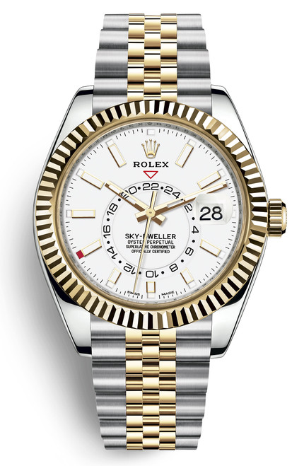 Rolex Stainless Steel and Yellow Gold Sky Dweller 326933WJ