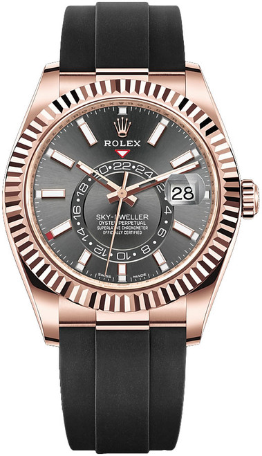Rolex Rose Gold Sky Dweller 326235 Rhodium