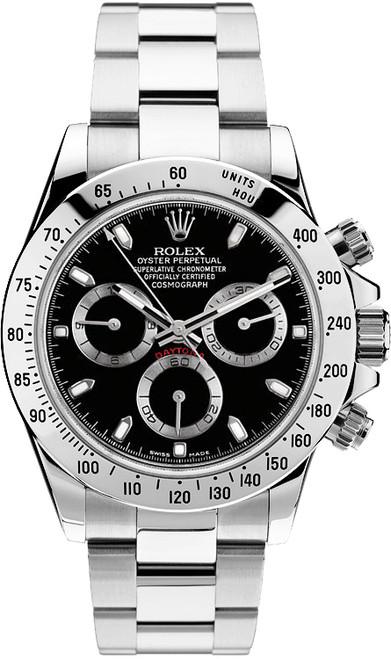 Rolex Pre Owned Steel Daytona 116520 Black