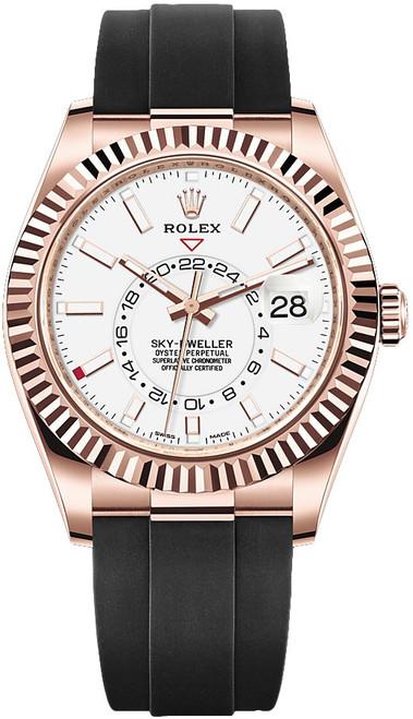 Rolex Rose Gold Sky Dweller 326235 White